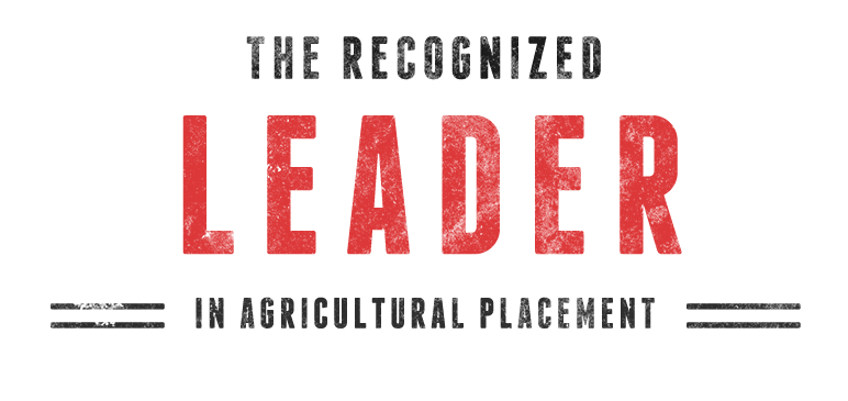 The recognized leader in agricultural placement